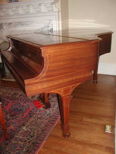 Finished Mahogany Steinway & Sons Grand Piano